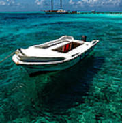 On The Peaceful Waters. Maldives Art Print