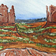 On The Prairie Art Print