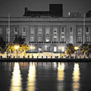 On The River At The Courthouse Art Print