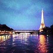 On The River Seine Art Print