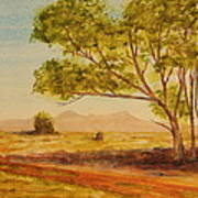 On The Road To Broken Hill Nsw Australia Art Print