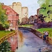 On The Stour River -canterbury Art Print