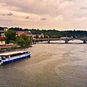 On The Vltava River - Prague Art Print