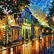 On The Way To Morning Art Print by Leonid Afremov