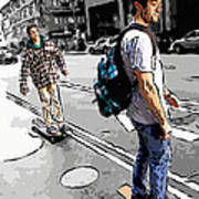 On Their Boards Art Print