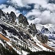 On Top Of The Rockies Art Print by Rebecca Adams