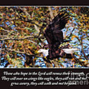 On Wings Of Eagles -in Brown Art Print