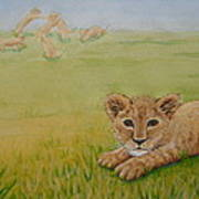 Once There Was A Lion Named Leo Art Print