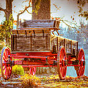 Wagon - Rustic - Once Upon A Time Before Pickups Art Print