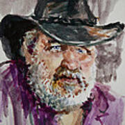 One Eyed Cowboy  Art Print
