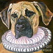 One Formal Pooch Art Print by Susan A Becker