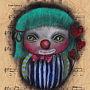 One Love Clown Art Print