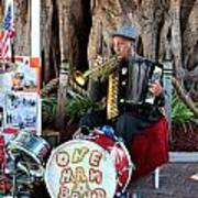 One Man Band - Miami Florida Art Print
