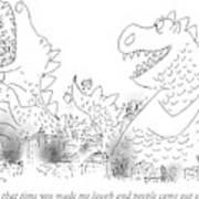 One Monster Devouring A City Art Print
