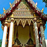 One Of Many Pagodas In Bangkok-thailand Art Print