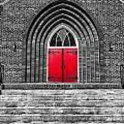 One Red Door Art Print
