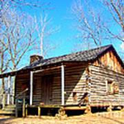 One Room Pioneer Log Cabin  Art Print