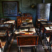 One Room School House Art Print by Bob Christopher
