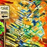 One Way Street Art Print