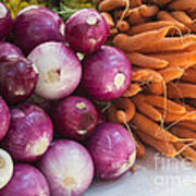 Onions And Carrots Art Print
