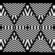 Op Art Black White Pattern Print No.336. Art Print by Drinka Mercep