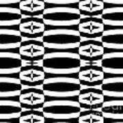 Op Art Geometric Black White Pattern Abstract No.290. Art Print