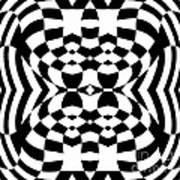 Op Art Geometric Pattern Black White Print No.230. Art Print