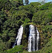 Opaekaa Falls In Kauai Art Print