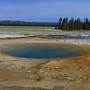 Opal Pool Panorama Yellowstone Art Print