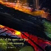 Open Air Fires Art Print