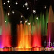 Open Air Theatre Rainbow Fountain Art Print