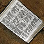 Open Bible Art Print