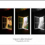 Open Cabin Window Trio Art Print by Julie Dant