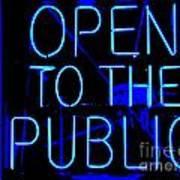 Open To The Public Art Print