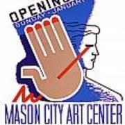 Opening Of Mason City Art Center Poster Art Print