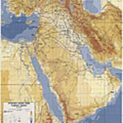 Operation Desert Storm Planning Map  1991 Art Print