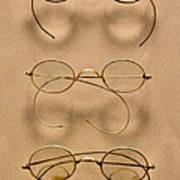 Optometrist - Simple Gold Frames Art Print by Mike Savad