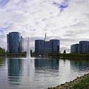Oracle Buildings In Redwood City Ca Art Print