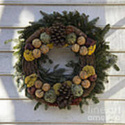 Orange And Artichoke Wreath Art Print