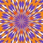 Orange And Purple Kaleidoscope Art Print