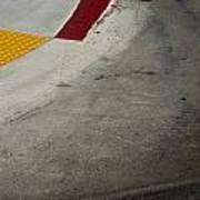 Orange Avenue Curb Cut Coronado California Art Print