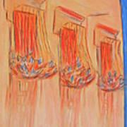 Orange Balcony Art Print by Marcia Meade