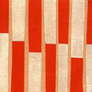 Orange Bars Art Print
