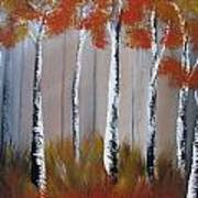 Orange Birch One Piece Art Print