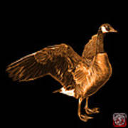 Orange Canada Goose Pop Art - 7585 - Bb  Art Print
