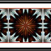 Orange Chocolate Trio - Kaleidoscope - Triptych Art Print