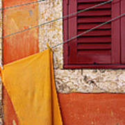 Orange Cloth  Art Print