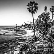 Orange County California In Black And White Art Print