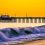 Orange County Panoramic Sunset Picture Art Print