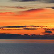 Orange Dawn Rising Art Print